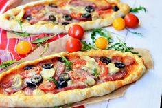 Pizzette cu salam Vegetable Pizza, Quiche, Food And Drink, Vegetables, Cooking, Chiang Mai, Foods, Pie, Fine Dining