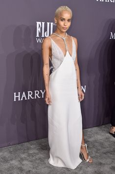 Actress Zoe Kravitz attends the 19th Annual amfAR New York Gala at Cipriani Wall Street on February 8, 2017 in New York City.