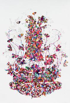 Kirra Jamison - gouache and vinyl on paper