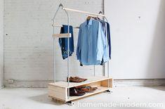 HomeMade Modern DIY Garment Rack Options