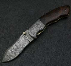 Mr Maan's Custom Handmade Damascus Steel Folding Knife Amzing File Work | eBay