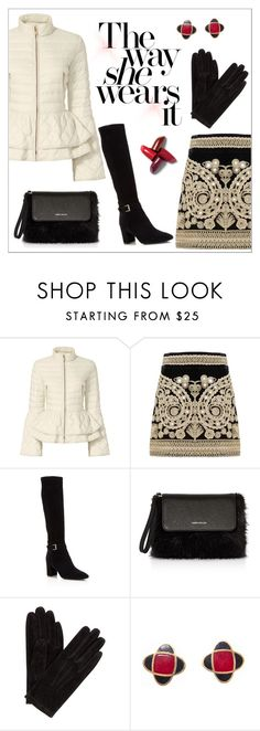 """The way she wears it..."" by elli-argyropoulou ❤ liked on Polyvore featuring Elizabeth Roberts, For Love & Lemons, Kate Spade, Karen Millen, John Lewis, Lanvin, suede, MINISKIRT, tallboots and fauxfur"