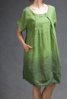Resultado de imagen de linen tunic green