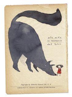 Red Cap Little Red Riding Hood Petit Chaperon Rouge Cappuccetto Rosso Attenta al lupo illustrazione di Alejandra Acosta #illustration #wolf