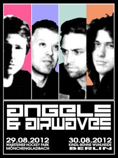 """THE ADVENTURE OF AN AIRWAVE""    Supergroup ""Angels and Airwaves"" are coming to Germany for 2 concerts!! They're supporting GREEN DAY...  Here comes my ""ANGELS & AIRWAVES"" poster...the size is 60x80 cm..."