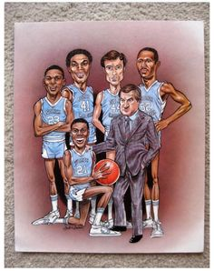 9eb89c974ad760 I accomplished many firsts for college paraphernalia  first to market Michael  Jordan and the 1982 UNC starting five