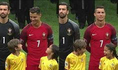 I'm not Ronaldo fans, but the two kids is just so cute.<< I'd do the same thing if Ronaldo smiled at me too tbh. Faith In Humanity Restored, Big Sean, Nicki Minaj, Cristiano Ronaldo, Ronaldo Juventus, Pokemon Go, Funny Cute, Super Funny, Funny Posts