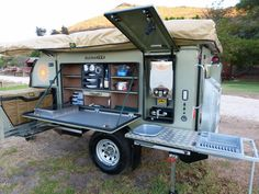 The Bushwakka Sundowner Off-road Caravan fills a gap in the trailer market, as it is a trailer designed which has a caravan-type feel. Camping Box, Off Road Camper Trailer, Travel Trailer Camping, Car Trailer, Utility Trailer, Family Camping, Camping Tips, Travel Trailers, Expedition Trailer