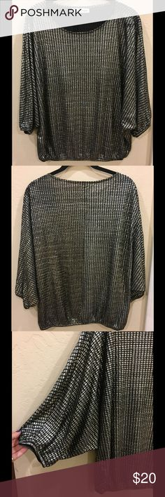Vintage disco era shirt Vintage great condition! Elastic waist and elastic arms - one side of arm elastic is a little more loose than the other, but it does not effect the flow or design of the shirt. Vintage Tops Tees - Long Sleeve