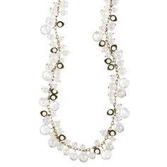 Pearl + Crystal Drops Long Necklace!!! 25% until 12/22 www.chloeandisabel.com/boutique/forgetmenot