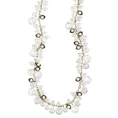 Pearl + Crystal Drops Long Necklace!!! 25% until 12/22 www.chloeandisabel.com/boutique/forgetmenot