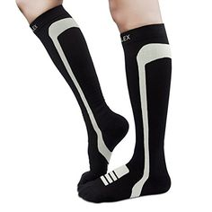 95551fd5cde3c HIGHFLEX Compression Socks Women and Men 20-30 mmHg Athletic Fit Compression  Stockings for Running, Travel, Nurse, Pregnancy, Edema, Boost Calf  Circulation, ...