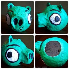 How to make an Angry Birds Pig paper mache! #diy #crafts #angrybirds