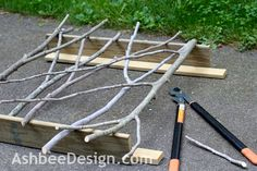 branch railings fence. Ashbee Design: Hide That Grill • DIY Grill Screen