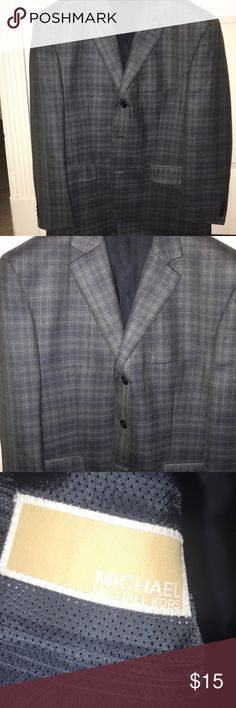 Michael Kors navy sport coat 40 Short Michael Kors navy sport coat 40 Short.  In great condition, navy with light blue patterned KORS Michael Kors Suits & Blazers Sport Coats & Blazers