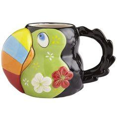 Toucan Mug Mug Tree, Funny Mugs, Mug Designs, Coffee Cups, Tea Pots, Tableware, Gifts, Animals, House