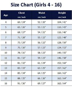 S Size Chart Schoolwear And Uniforms Couture School Toddlerschooluniforms