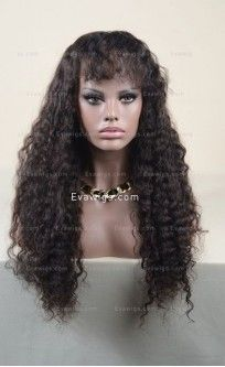 #Stocked Enchanting Long #Wavy Full Lace #Wigs With #Bangs   #EvaWigs