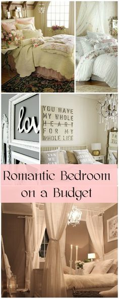 Romantic Bedroom on a Budget • Ideas & Tips on how to decorate a romantic bedroom!