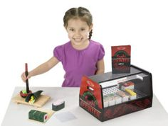 Melissa & Doug's Roll, Wrap & Slice Sushi Counter Playset will have your little chef creating realistic sushi. Featuring maki rolls, nori strips, a menu and more to create a life-like experience for the entire family. Toddler Toys, Kids Toys, Baby Toys, Sushi Counter, Sushi Mat, Cooking Measurements, Sushi Chef, Melissa & Doug, Toys