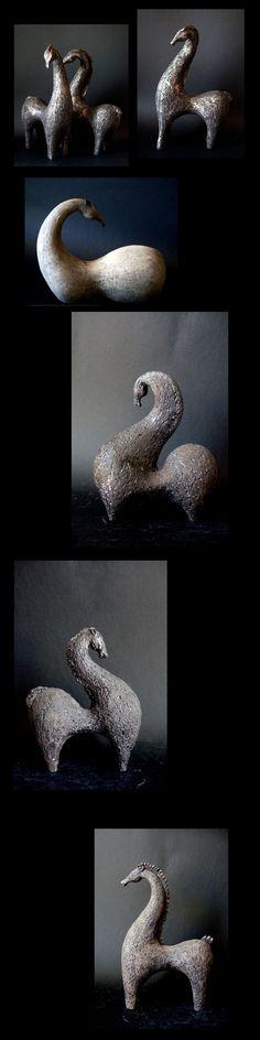 *Ceramic Horse Sculptures (by Athena Jahantigh)