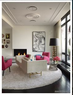 Contemporary living room by Jonathon Adler.Jonathan Adler is one of the designers who has adapted the Regency-Empire styles that date back to the early 19th century for modern times