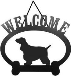 For true fans of the breed, Sweeney Ridge's elegant American Cocker Spaniel Welcome Sign is a great choice. This classic oval Welcome sign features a dog silhou