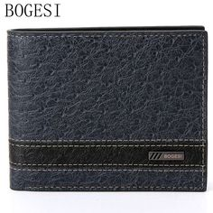 5.41$  Watch here - http://aliapa.shopchina.info/go.php?t=32795050282 - BOGESI Fashion Brand Men Leather Wallet Chronograph Short Pocket Purse Man Purse With Money Card Slim Card Holder For Men Solid 5.41$ #aliexpress