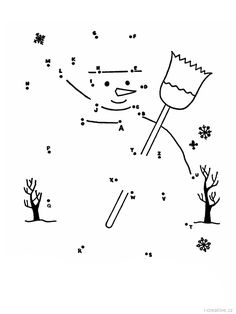 Find your favorite connect the dots game or try to make one by yourself. We'll explain some ways to make your own dot to dot worksheets, it's fun and easy. Snowman Coloring Pages, Coloring Pages Winter, Preschool Coloring Pages, Christmas Coloring Pages, Colouring Pages, Coloring Pages For Kids, Connect The Dots Game, Dot To Dot Printables, Snowman Party