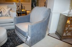 The nailhead trim detail and the shape of the chair back make this Decor-Rest scream luxury! TheHome.com #hpmkt