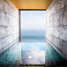 Located just outside San Sebastián overlooking the Basque Coast in Spain, Hotel Akelarre is a boutique hotel designed by architecture studio Mecanismo. San Sebastian Spain, Piscina Interior, Moderne Pools, Modern Bathtub, Modern Bathroom, Bathroom Ideas, Basque Country, Hospitality Design, A Boutique
