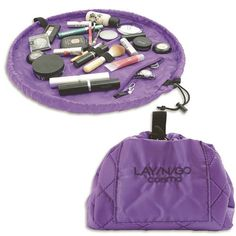 Lay-n-Go Cosmetic Bag-Purple