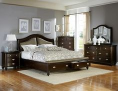 Dark Cherry Bedroom Set components can add a touch of fashion and design to any house. Dark Cherry Bedroom Set can imply many things to many individuals… King Size Bedroom Furniture, Bed Furniture, Kitchen Furniture, Furniture Design, Cherry Furniture, Furniture Sale, Discount Furniture, Office Furniture, Hooker Furniture