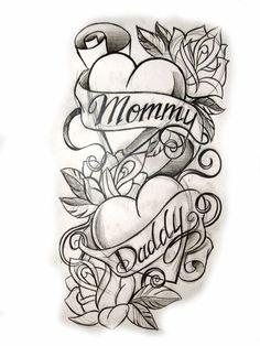 Future tattoo w. pics pics art pics awesome pics beautiful pics design pics for men pics ideas pics ink pics photography pics tatoo Heart Tattoo Designs, Tattoo Sleeve Designs, Flower Tattoo Designs, Sleeve Tattoos, Mom Dad Tattoos, Family Tattoos, Future Tattoos, Rose Drawing Tattoo, Tattoo Design Drawings