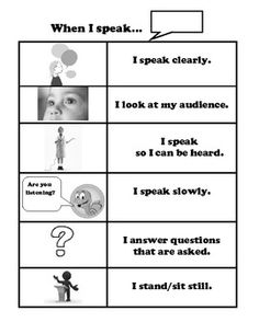 Speaking Student Self-Assessment