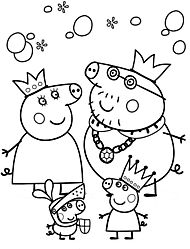 peppa pig coloring pages drawing picture 35