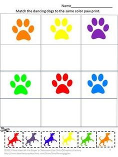 Man's Best Friend Cut and Paste Worksheet Set For Pre-K, K and Special Education