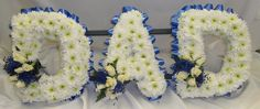 DAD Letter Flower Tribute