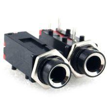 "2 stks, 1/4 ""6.35mm Mono PCB PANEL MOUNT HEADPHONE JACK PLUG(China (Mainland))"