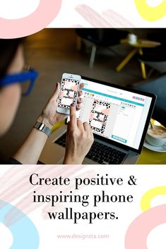 How to create your very own custom positive and inspirational wallpapers! Online Graphic Design, Graphic Design Tutorials, Blog Design, Wallpaper Background Design, Create Your Own Wallpaper, You Better Work, Inspirational Wallpapers, Instagram Story Template, Promote Your Business