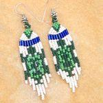 Handmade Native American beaded rings   Handmade beaded Turtle Seed Bead Earrings E15/18