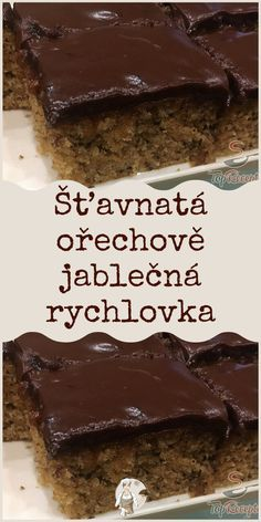 Best Dinner Recipes, Sweet Recipes, Cake Recipes, A Food, Food And Drink, Czech Recipes, Thanksgiving Desserts, Sweet Cakes, Something Sweet