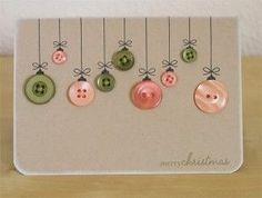 Préparons Noël : la carte de voeux 'couture' en boutons: