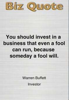 Buffett...on buying businesses