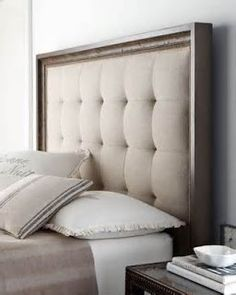 DIY Headboard | I can't find the source for this. So so so sorry. Blogging faux pas #1. Probably houzz.com.