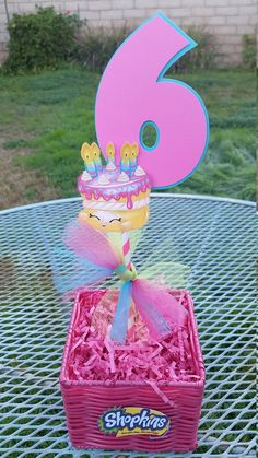 5 inch Shopkins centerpiece shopkins cake by SilviasPartyDecor