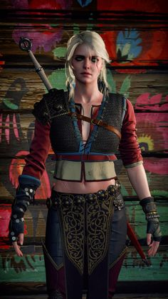 The Witcher 3 - Ciri, Alternative Look The Witcher 3, Ciri Witcher, The Witcher Wild Hunt, Witcher Art, Fantasy Characters, Female Characters, Witcher Wallpaper, Animated Movie Posters, Demon Hunter