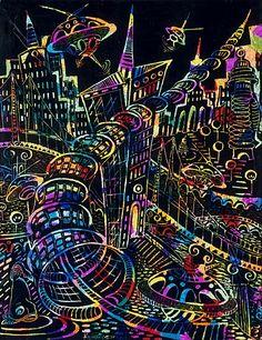 """Мастер-класс """"Рисунок в технике граттаж"""" - Катюшки, форум жителей микрорайона. Сайт микрорайона Катюшки."""