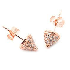 Cone Pavé Studs Rose, $42, now featured on Fab.