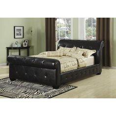 Manchester Sleigh Bed Black